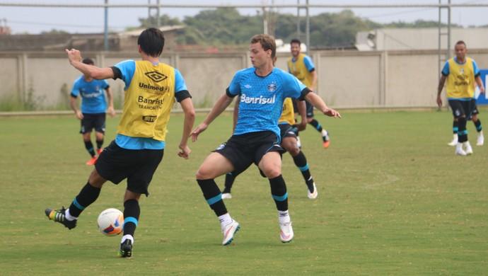 Treino do Grêmio no CT (Foto: Eduardo Deconto/GloboEsporte.com)