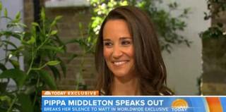 Pippa Middleton dando entrevista  (Foto: Reprodução)