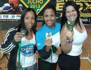 Graziele Souza, Danila Ramos e Jessica Gabriela Sant'anna boxe (Foto: Divulgação)