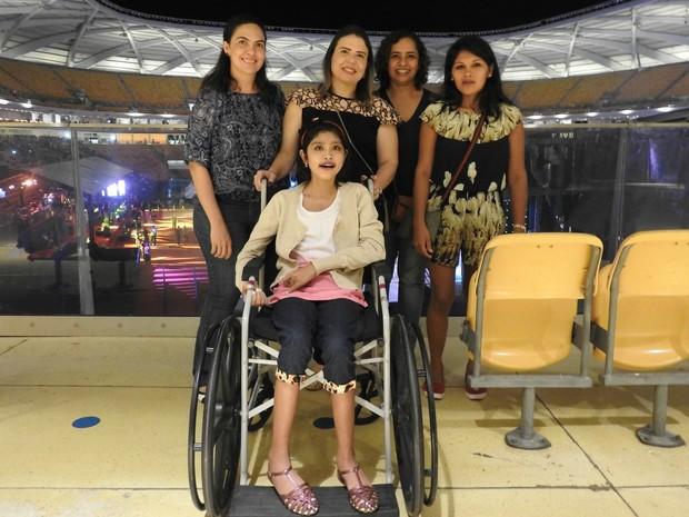 Ananda Gama realizou o sonho de conhcer Luan Santana (Foto: Suelen Gonçalves/ G1 AM)