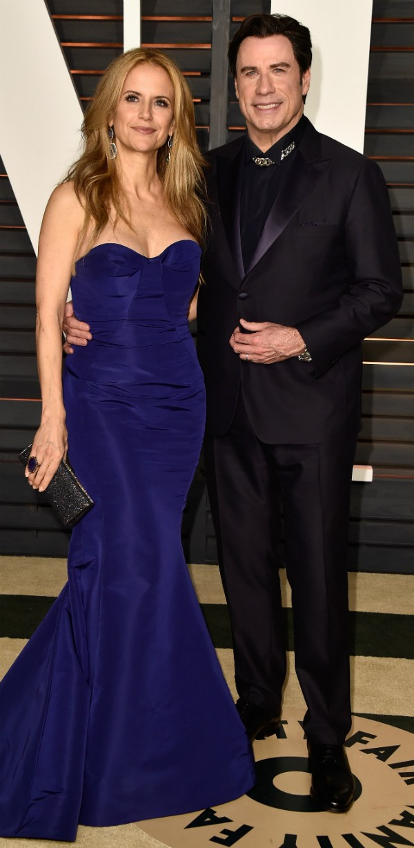 John Travolta e sua esposa, Kelly Preston (Foto: Getty Images)