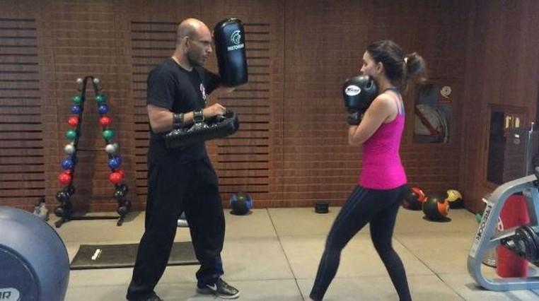 Mariana Rios pratica Muay Thai três vezes por semana (Foto: Arquivo pessoal)