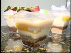 Pavê de pêssego é uma sobremesa simples e tradicional