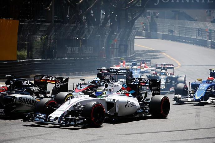 Felipe Massa enfrentou uma corrida difícil em Mônaco, com problemas já na largada (Foto: Divulgação)
