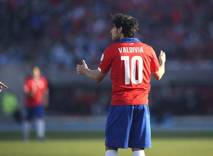 Valdivia Chile x Argentina Copa América (Foto: EFE)