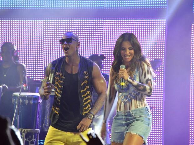 Léo Santana e Ivete Sangalo em show em Salvador, na Bahia (Foto: Felipe Souto Maior/ Ag. News)