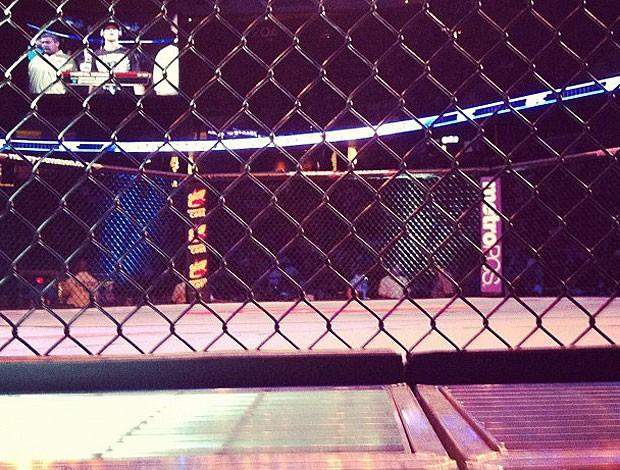 Visão de Ricardo Cachorrão como jurado do UFC: Diaz x Miller (Foto: Reprodução / Twitter)