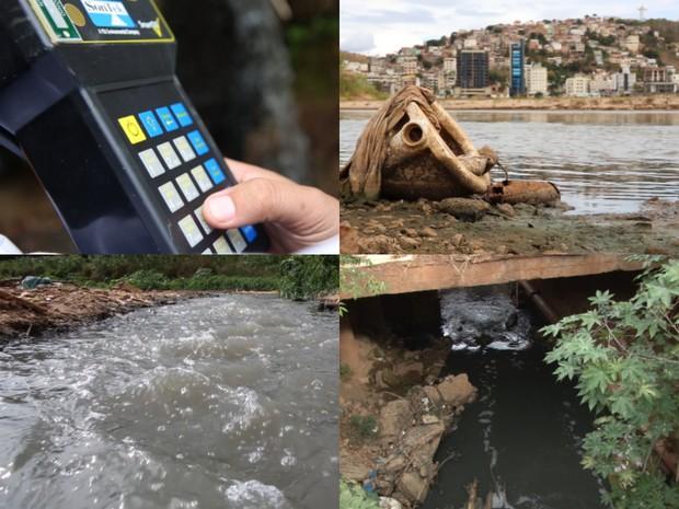 Pesquisadores de expedição fazem medição da qualidade da água de afluente do Rio Doce (Foto: Reprodução/ TV Gazeta)