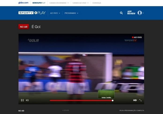 Espectadores do Globosat Play podem rever últimos 30 minutos da transmissão (Foto: Divulgação)