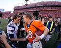 Máquinas de recordes, P. Manning e Brady duelam por vaga no Super Bowl