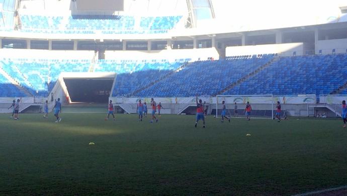 Treino do Potiguar de Mossoró Arena das Dunas (Foto: Luiz Henrique/GloboEsporte.com)
