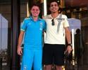 Ex-Fla, Wanderley visita Adryan na concentração da Seleção sub-20