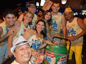 Foliões de todas as regiões de Porto Velho se encontraram na Zona Sul (Foto: Toni Francis/G1)