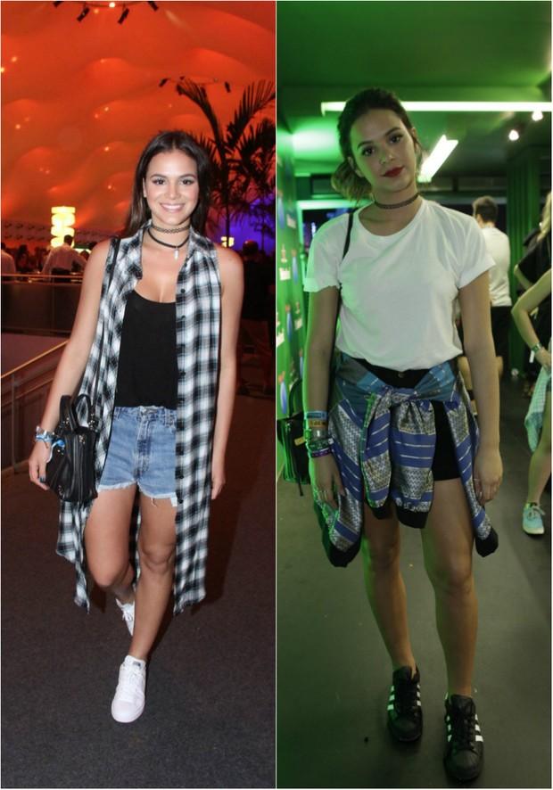 Bruna Marquezine capricha nos looks para o Rock in Rio: short jeans e pernas torneadas à mostra (Foto: Ag. News)