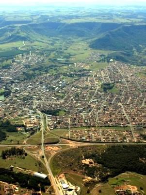 Vista aérea da estância turística de São Pedro (SP) (Foto: Prefeitura de São Pedro)
