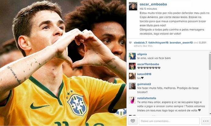 Oscar Copa América Instagram (Foto: Reprodução/Instagram)