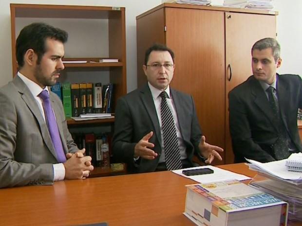 Promotores do Gaeco, em Franca, SP (Foto: Reprodução/ EPTV)
