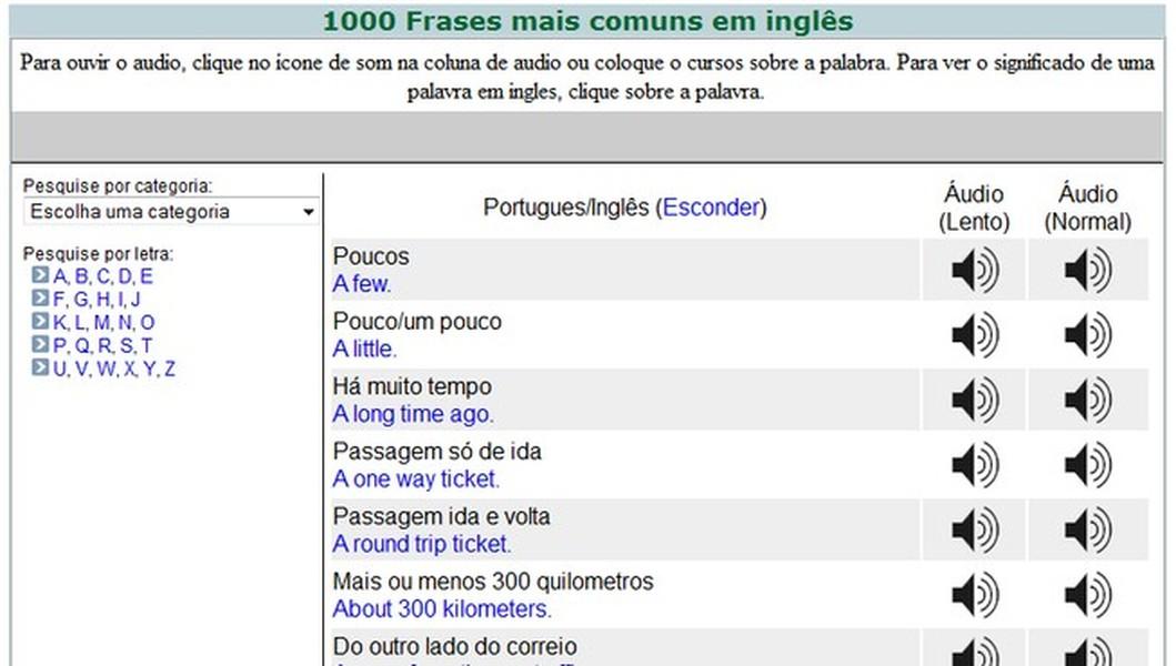 1000 Frases Mais Comuns Em Inglês