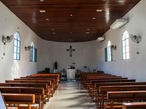 Igreja de Santo Antônio foi um dos primeiros marcos da história de Porto Velho (Foto: Jenifer Zambiazzi/G1)