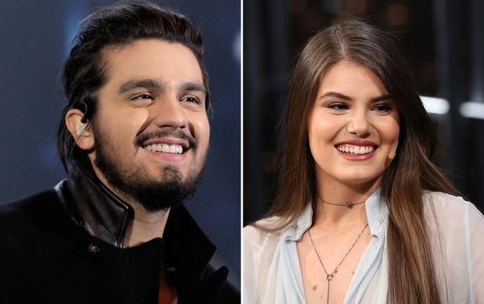 Luan Santana e Camila Queiroz cantam junto em novo DVD do cantor (Foto: Inácio Moraes e Carol Caminha/Gshow)