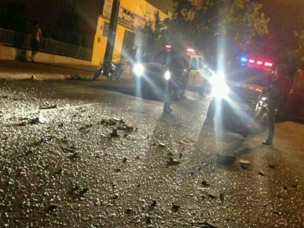PM trocou tiros com criminosos na cidade de Apodi, RN (Foto: Marcos Gil)