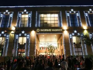 Fachada do Shopping Valinhos no Natal (Foto: Leandro Ferreira)