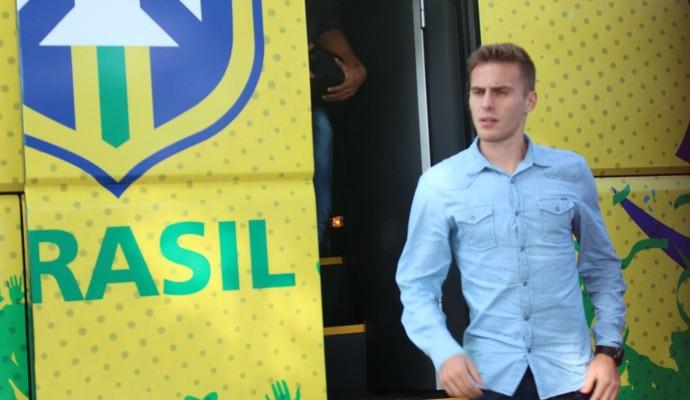 Bressan, zagueiro do Flamengo, apresentação seleção brasileira Jogos Pan-Americanos (Foto: Divulgação/CBF)