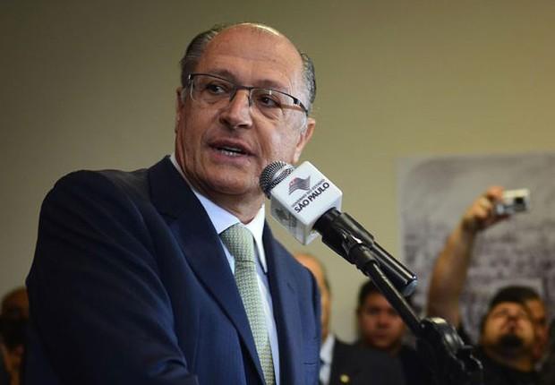 O governador de São Paulo, Geraldo Alckmin (PSDB), em cerimônia de inauguração de centro de saúde (Foto: Rovena Rosa/Agência Brasil)