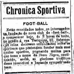 Jornal 'Estado do Pará' convoca os desportistas para a fundação do clube (Foto: Ascom/Paysandu)