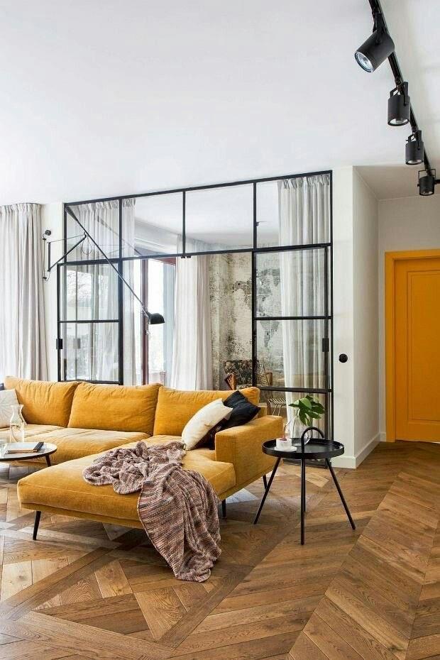 Décor do dia: Sala de estar integrada com quarto (Foto: Reprodução)