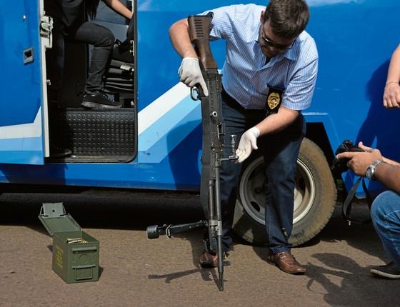 Carro-forte usado para tentar matar Jorge Rafaat (Foto:  )