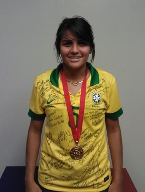 Gabi, cearense, brasil, futebol, feminino (Foto: Juscelino Filho)