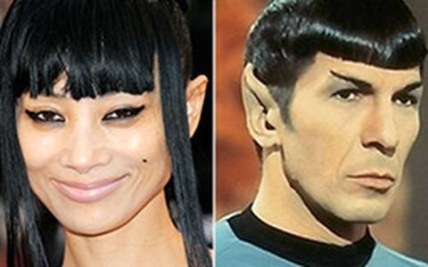 Bai Ling erra no penteado e é comparada ao personagem 'Spock'
