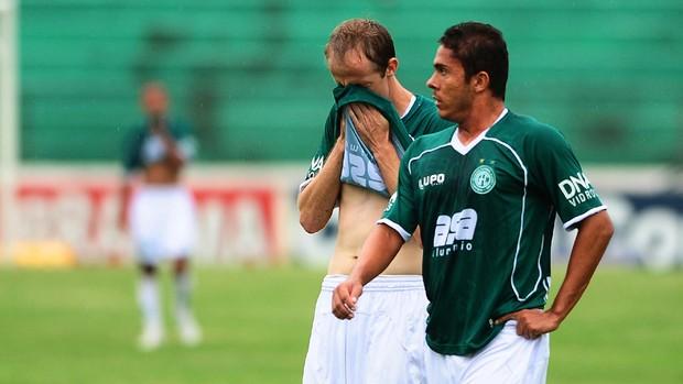 Ademir Sopa e Kleiton Domingues lamentam queda (Foto: Marcos Ribolli/ Globoesporte.com)