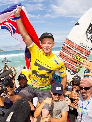 surfe John John Florence no Rio Pro comemoração (Foto: AP)