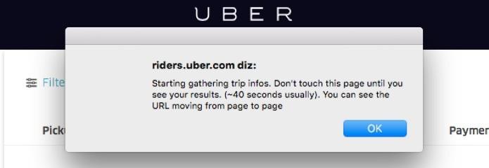 Confirmação para verificação de viagens no Uber (Foto: Reprodução/André Sugai)