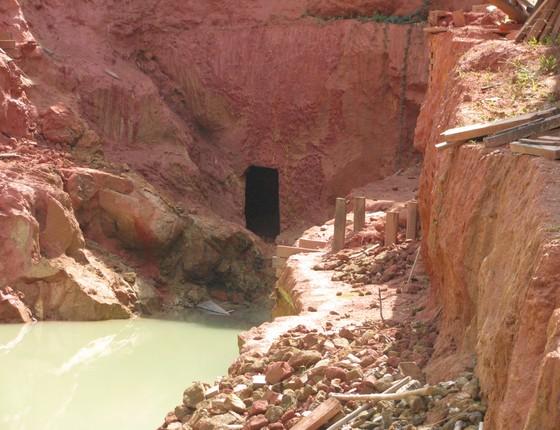 Garimpo de filão em Nova Esperança, dentro da Floresta Estadual do Paru (Foto: Imazon)