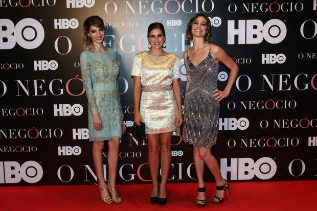 Michelle Batista com Rafaella Mandelli e Juliana Schalch (Foto: Manuela Scarpa/Foto Rio News)