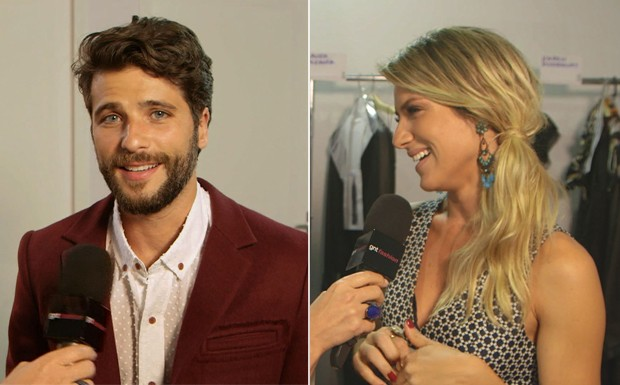 Bruno Gagliasso e Giovanna Ewbank no GNT Fashion (Foto: Reproduo / GNT)
