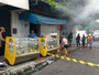 Incêndio destrói lanchonete após tacho com óleo pegar fogo; veja vídeo