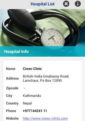 Aplicativo My Travel Aid auxilia o viajante a localizar os hospitais mais próximos. (Foto: Reprodução)