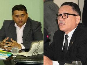 Deputados estaduais Moisés Souza e Edinho Duarte, do Amapá (Foto: Chico Terra/Agência Amapá/Jorge Júnior/Agência Amapá)