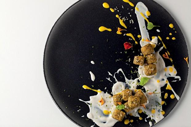 Nhoque com batata doce e curry do Ró (Foto: Divulgação)