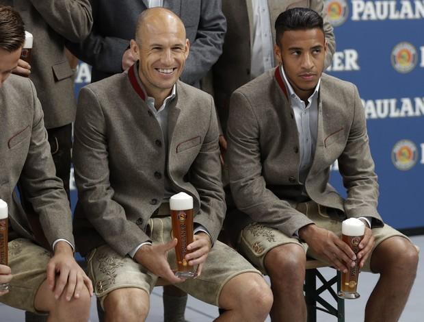 Robben Bayern de Munique ensaio cerveja