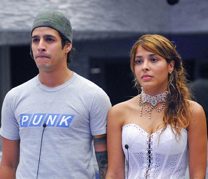 A Final do BBB8 teve o Paredão mais acirrado. Rafinha venceu Gyselle por apenas 0,3 pontos de diferença (Foto: Tv Globo)