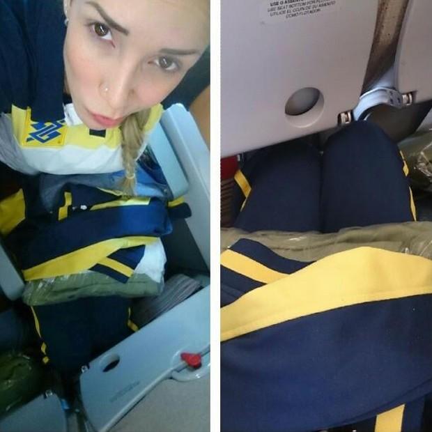 vôlei Thaisa voo classe econômica (Foto: Reprodução / Instagram)