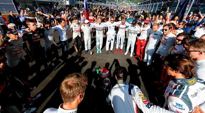 Homenagem a Jules Bianchi (Foto: AFP)