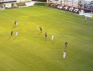 ABC - Gegê, meia - gol sobre o Santa Cruz de natal (Foto: Reprodução/Inter TV Cabugi)