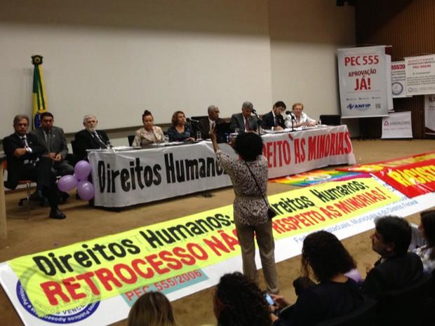 Frente Parlamentar em Defesa dos Direitos Humanos (Foto: Felipe Néri/ G1)