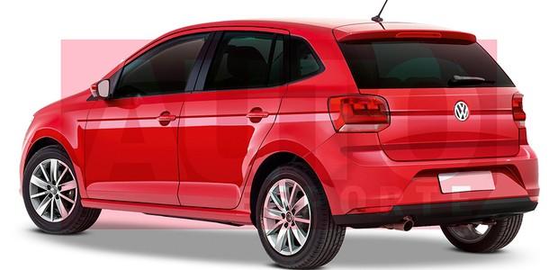 Projeção mostra como ficará o novo VW Gol (Foto: Autoesporte)